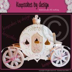 3D Princess Coach [KBD00169] - $4.38 : Paperthreads, Your Die Cut Supperstore