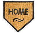 Geo Crafts Flat WeaveTuffcor Home Plate Door Mat — QVC.com