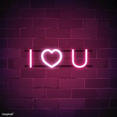 I love you neon sign vector | free image by rawpixel.com / NingZk V.