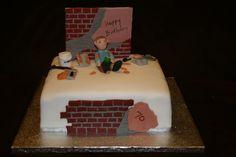 Plasterer cake   by Eldriva 40th Birthday, Happy Birthday, Birthday Cakes, Cake Pictures, Creative Cakes, Cake Designs, Plastering, Cake Ideas, Desserts