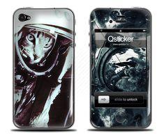 Выпуклая наклейка Cosmocat для iPhone 4 | 4s купить в интернет-магазине BeautyApple.ru.