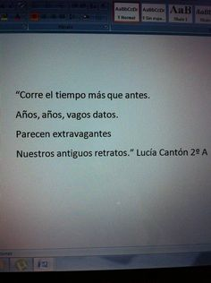 Poema de Lucía Cantón, alumna de 2º A ESO del IES Valle del Luna (Sta Mª del Páramo. León) Tv, Poems, Television Set, Television