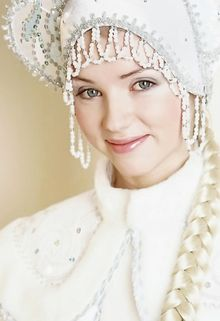 Eurasia: Russian snow girl