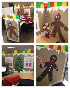 Christmas Cubicle Decorations - I am so glad I work from home.