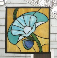 art deco stained glass patterns | Stained Glass Window PanelArt Deco Poppy by StainedGlassArtist