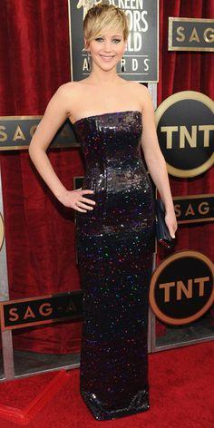 Jennifer Lawrence in a Dior gown - SAG 2014 Red Carpet Arrivals.