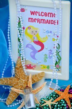 Sign at a Mermaid Party #mermaid #party