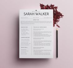 Resume / CV Teacher Edition - 2 by SignatureResume on @creativemarket