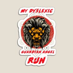 Vibrant Colors, Magnets, Lion, Angel, Running, Art Prints, Printed, Awesome, Products