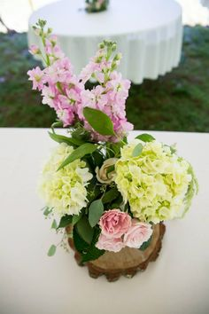 #masonjar #centerpiece on wood slabs. #countrywedding #wvweddings #rustic