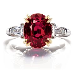 Oval ruby and diamond #ring by Harry Winston