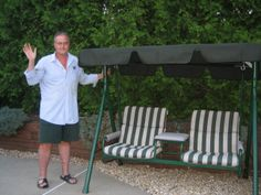 Gentil Happy Customer With Replacement Canopy For Walmart 2 Seat Swing   Sunbrella  Fabric Comes With A 10 Year Warranty!