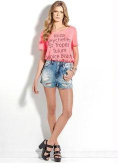 T-Shirt Colcci Ibiza (Rosa)