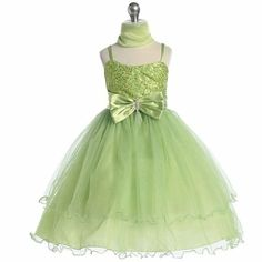 Amazon.com: Chic Baby Girl Green Sequin Flower Girl Pageant Easter Dress 2T-14: Chic Baby: Clothing $52