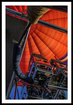 Hot Air Balloon Framed Print featuring the photograph The Brain Of The Hot Air Balloon by Judith Barath