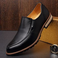 Men's Flats Shoes Slip On Men Shoes Luxury Brand Genuine Leather Dress Shoes Oxford Shoes Men Loafers Mocassin Homme Men Loafers