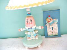 HUMPTY DUMPTY Sat On a Wall Vintage Irmi Humpty by InWithTheOld, $38.00