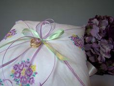 Ring Bearer Pillow Purple Wedding Ring Pillow by TwiningVines, $35.00