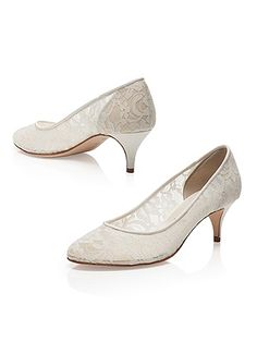 Bridal Kitten Heel Shoes | Tsaa Heel