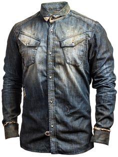Pearly King 'Rambler' Denim Shirt