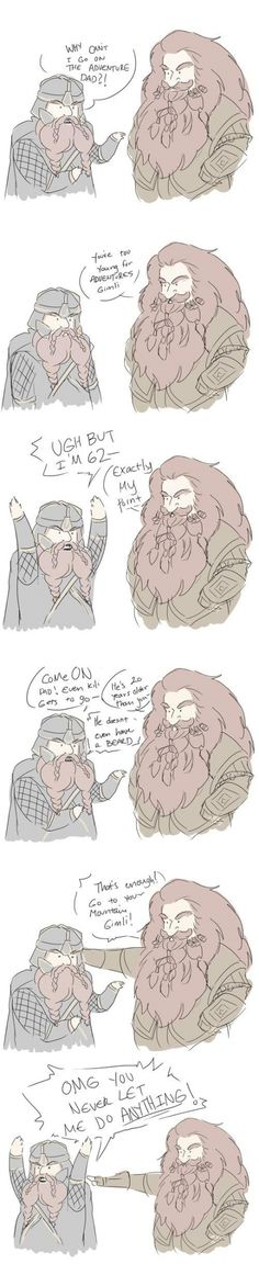 """Go to your mountain!"" Hahaha! Poor Gimli! The moment where 60-year-olds act like teenagers."