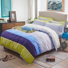 4pcs Bohemian Bedding Set Soft Polyester Bed Linen Duvet Cover Pillowcases Bed Sheet Sets Home Textile Queen Full Coverlets