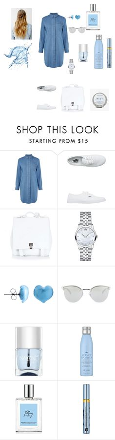 """blue"" by brindusoiu-georgiana on Polyvore featuring Warehouse, Vans, Proenza Schouler, Movado, Martick, Fendi, Nails Inc., Drybar, philosophy and Estée Lauder"