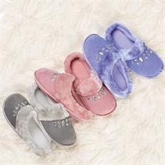 Memory Foam Jeweled Slipper Scuff - FIND Super Cute Shoes at http://thinkbeautytoday.com/avon-2016-brochures/avon-catalogs/