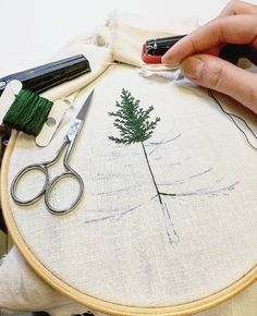 This one is for my etsy shop ✌ Made with the love of fir trees . . . . . #sapin #fir #foret #forest #greenlife #simple #nature #making #encours #inprogress #draw #dessin #handembroidery #embroidery #embroideryart #broderie #broderiemain #handmade #faitmain #brodeuse #embroiderer #embroidered #bordado #madeinfrance #delphil #tatoueusedetissu #modernembroidery #contemporaryembroidery #embroideryinstaguild #embroiderylove
