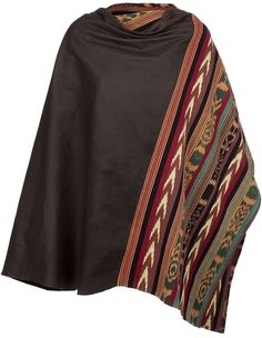 Woven Shawl Poncho - Lyst
