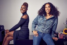 Issa Rae and Melina Matsoukas in their Los Angeles office.  Photographs by Patrick Ecclesine.