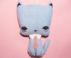 Little Kittie Plush Ornament  Chic BF by JooSweetie on Etsy