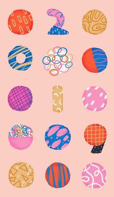 2019 on Behance Creative Illustration, Illustration Art, Pattern Art, Pattern Design, Abstract Shapes, Illustrations And Posters, Motion Design, Graphic Design Inspiration, Sticker Design