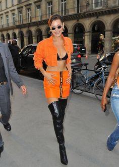 FunFunky.com Bella Hadid - Heron Preston Presentation for Paris Fashion : Global Celebrtities (F)