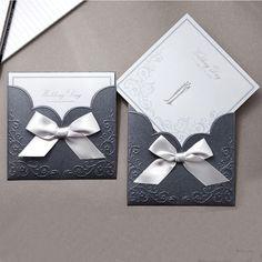 Blue Pocket Victorian Wedding Invitations - GA 1015 | ItsInvitation