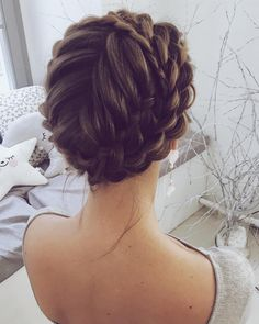 28 fabulous Halo Braid ideas to choose from - For Paige :) # . - 28 Fabulous Halo Braid Ideas To Choose From – For Paige :] # - Braided Hairstyles Updo, Updo Hairstyle, Braided Updo, Hairstyle Ideas, Protective Hairstyles, Unique Wedding Hairstyles, Bridal Hairstyles, Hairstyles Haircuts, Formal Hairstyles