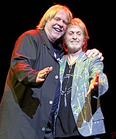 Rick Wakeman with Jon Anderson: I have a copy of this pic on a printout a friend sent me...<3