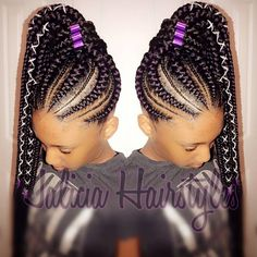 Gone are the days when cornrow hairstyles were rocked by older women and a few section of ladies but today it has become one of the most popular braided hairstyles but not only because it is easy to handle, but because it can be done in different amazing styles. From braided, to twisted, to big … #WomensHairstylesMediumMessyBuns Box Braids Hairstyles, Braided Cornrow Hairstyles, Cornrow Ponytail, Braided Hairstyles For Black Women, African Hairstyles, Girl Hairstyles, Feed In Braids Ponytail, Black Hairstyles, Big Cornrows