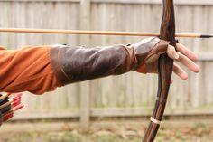 M/LG Robin Hood Leather Arm Guard & Bow Hand by UpshotArchery