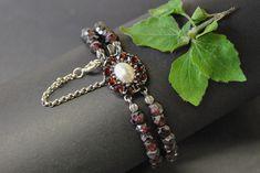 Beaded Bracelets, Shopping, Jewelry, Flower, Rhinestones, Handmade, Silver, Red, Nice Asses