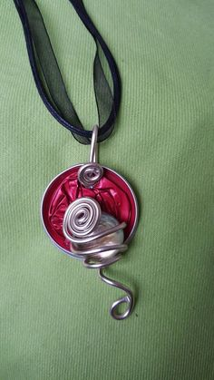 Etsy - Shop for handmade, vintage, custom, and unique gifts for everyone Washer Necklace, Pendant Necklace, Nescafe, Coffee Pods, Upcycle, Etsy, Orange, Bracelets, Crafts
