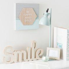 Decoración de pared de madera 19 x 40cm SMILE PASTEL -- 9€