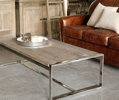 $873 coffee solid wood frniture / the old elm stainless steel coffee table / coffee table-ZZKKO