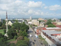 City view of Charleston SC from Francis Marion Hotel