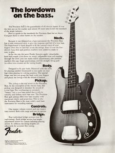 Fender Precision Bass ad.