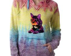 Crazy Cat Lady Caturday Animal Lover Cat Dog Burnout Hoodies Paw HeartSports Sweatshirt