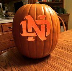notre dame pumpkin template  6 Best Fighting Irish Halloween images in 206 | Irish ...