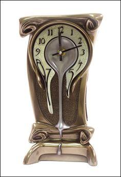 Bronze Art Nouveau melting clock