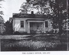 Worsham, Virginia Clerk's Office. The building was in use from 1855 to 1872. The clerk during that time was Branch Jones Worsham, brother to my ancestor, William H. Worsham.