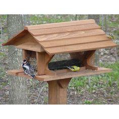 Bluebirds will flock to this Super bird feeder. Use bird feeders outdoors. Wood Bird Feeder, Bird House Feeder, Homemade Bird Houses, Homemade Bird Feeders, Bird House Plans, Bird House Kits, Bird Tables, Homemade Home Decor, Bird Aviary